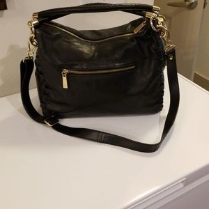 Vince Camuto vegan black leather bag